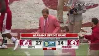 Alabama Jake Coker A-Day highlights 2015