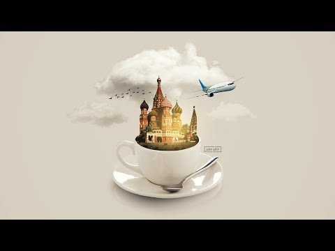 Moscow-in-a-Cup PHOTO MANIPULATION Photoshop Tutorial thumbnail