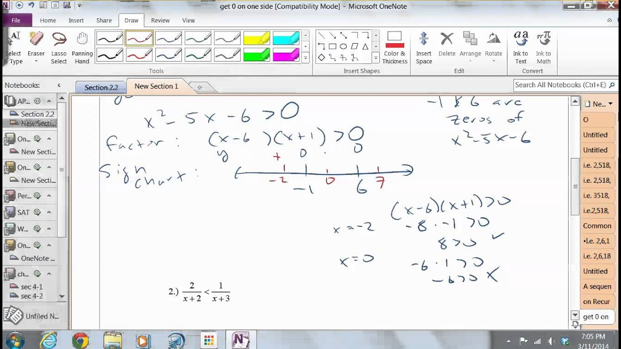 Solving Non linear Inequalities - YouTube