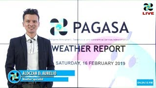 Public Weather Forecast Issued at 4:00 PM February 16, 2019