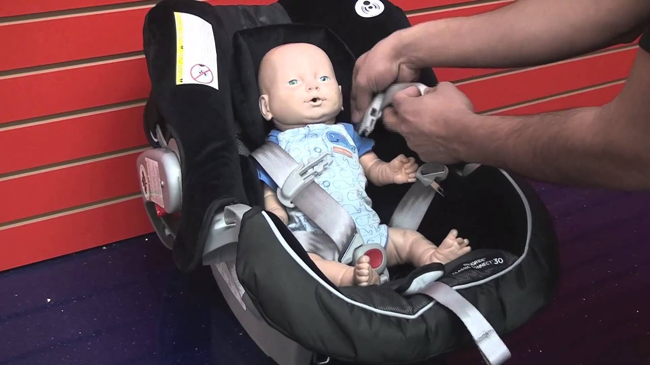 Graco SnugRide 30: Correct Way To Place Child Into Car Seat - YouTube