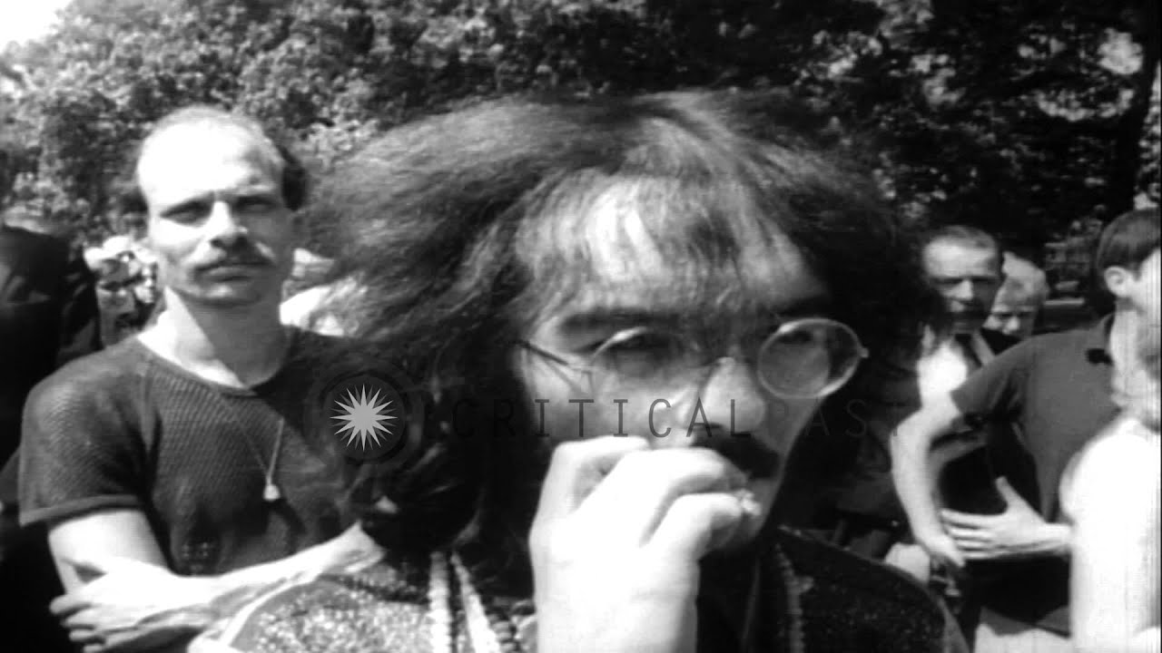 322e82c783c Hippies gather at Hyde Park in London to preach love and peace HD Stock  Footage