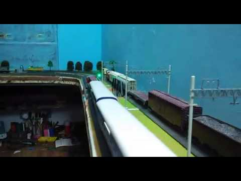 Indian Railway Punjab mail handmade with authentic sound by decibel scale models