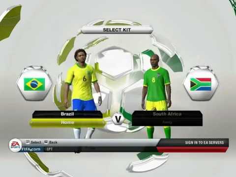 FIFA13 Gameplay |EA Sport|Brazil VS South Africa 3-0