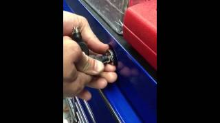 How to replace a snap-on toolbox lock