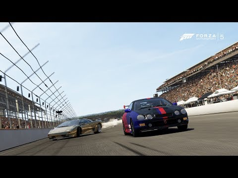 Forza Motorsport 5 - I Turn Left Many Times At Indianapolis Motor Speedway!! + Rammer Fail!!