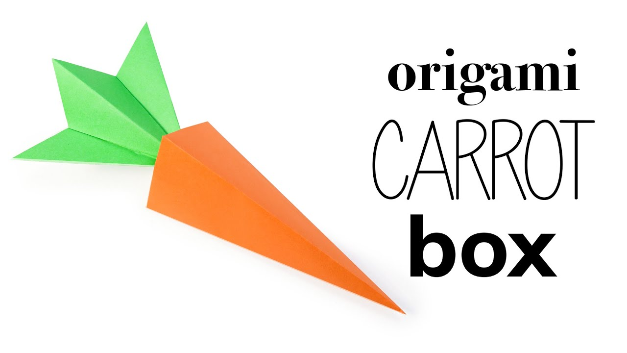 origami carrot box tutorial  u2665 ufe0e diy  u2665 ufe0e