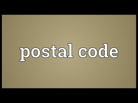 Postal Code Meaning