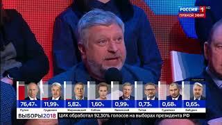Выборы итоги 2018 КОРОТКО! ВБРОСЫ Подсчет голосов  не 60 минут и Вечер с Соловьевым подводят итоги