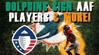 Miami Dolphins Sign AAF Players and More!
