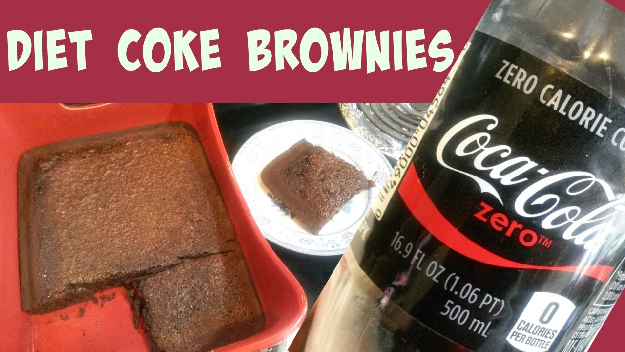 does diet soda work for brownies