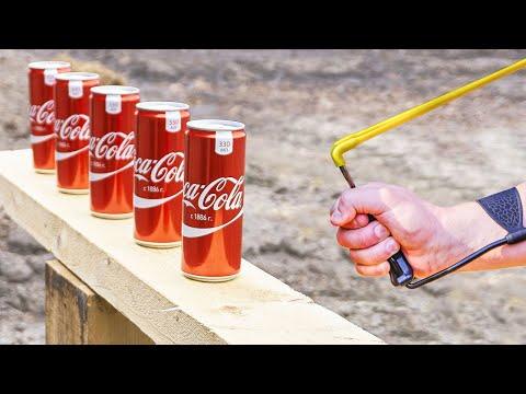 Experiment :Slingshot vs Coca Cola