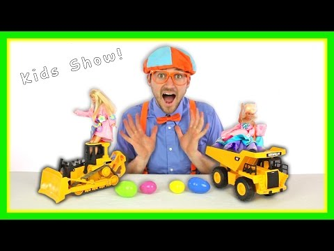 Thumbnail: The Blippi Toys Construction Crew | Building A Jump Pit