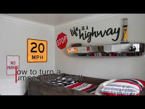 How to turn a bumper into a shelf