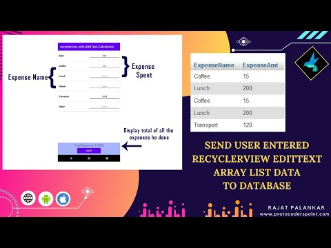 Send user entered recyclerview edittext Array list data to database (phpmyadmin) - PART 2