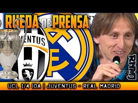 Juventus - Real Madrid Rueda de prensa de MODRIC Previa Champions (02/04/2018) thumbnail