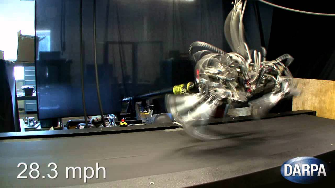 Land Speed Record >> DARPA's Cheetah Bolts Past the Competition - YouTube