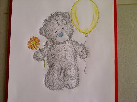 Teddybär zeichnen. Kuschelbär malen. Zeichnen lernen für Anfänger