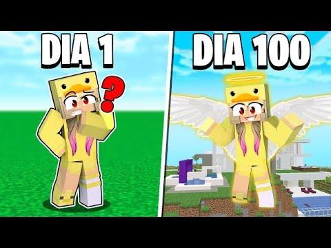 SOBREVIVÍ 100 DÍAS EN MINECRAFT MODO DIOS!!