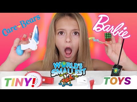 WORLDS SMALLEST Toys! | Tiny Mini Products! | Quinn Sisters