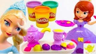 Play Doh-Juguetes de la Princesa Sofia y Frozen en español