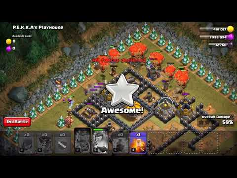 How to do PEKKA'S PLAYHOUSE? 3 STAR! CLASH OF CLANS!