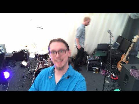 Live band setup with in ear monitors