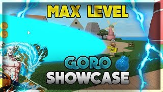 Goro/Lightning Full Showcase - Steve's One Piece - Roblox - New Combo + Hidden Move! - Max Level!
