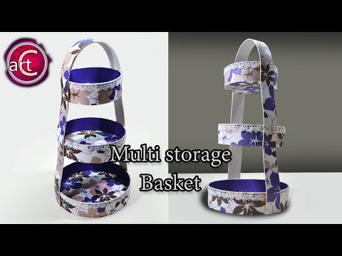 Multi Storage Basket | Best out of waste | DIY | Art with Creativity 217