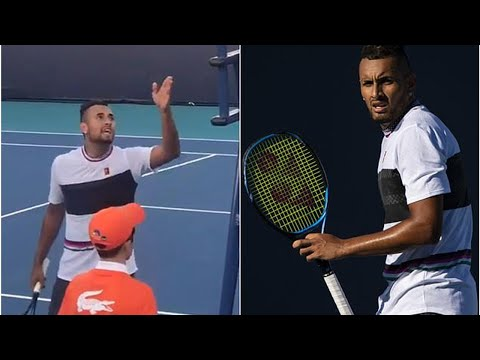 Nick Kyrgios blows up at umpire after losing doubles match