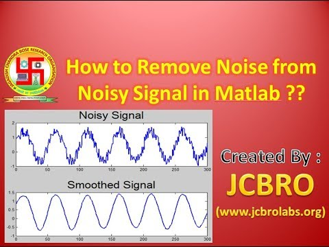 How to remove noise from noisy signal in Matlab?