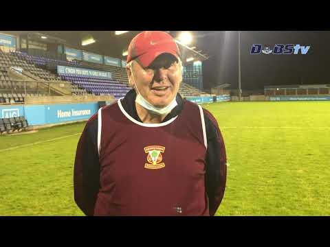 Raheny manager Paul Dempsey speaks to Dubs TV after victory over Plunketts