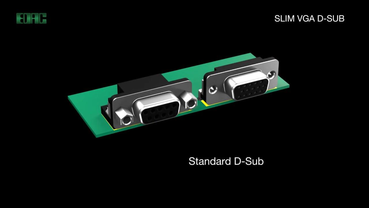 EDAC D-Sub Connectors | Slim VGA