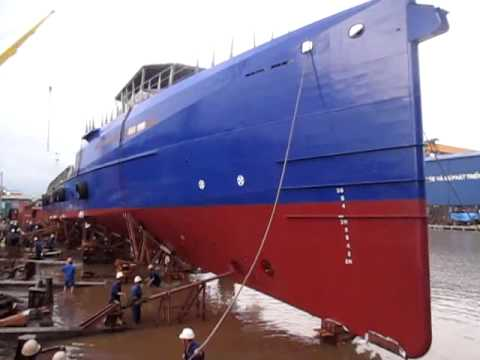 Launching FCS5009 Yn547237  24th July 2013,Song Cam Shipyard, Hai phong city, Viet nam