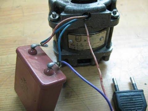 Правильно подключаем двигатель от стиральной машинки в сеть 220 вольт через конденсатор.