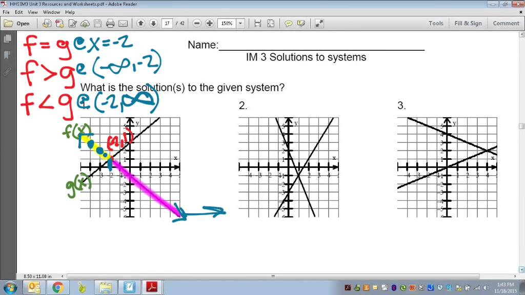 Common Core Math: Systems of Polynomial Functions and Inequalities ...