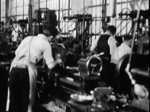 Westclox Factory.Silent Film.Big Ben and Baby Ben Alarm Clocks.