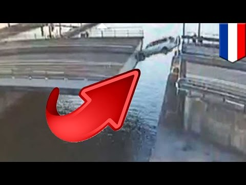 Stunt jumps gone wrong: Dutch man tries to launch car over retracting bridge - TomoNews