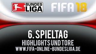 Highlights und Tore 6. Spieltag FIFA 18 Bundesliga | Gameplay Deutsch Livestream