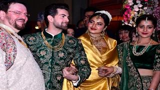 Rekha's Shocking Avatar @ Neil Nitin Mukesh's wedding reception