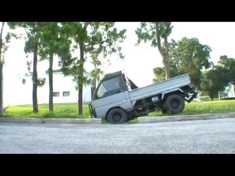 Mitsubishi MiniCab Kei Truck Part Time 4WD Test - YouTube