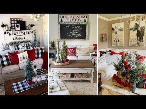 ❤ DIY Farmhouse style Christmas Coffee  table decor Ideas❤ | Home decor Ideas| Flamingo Mango