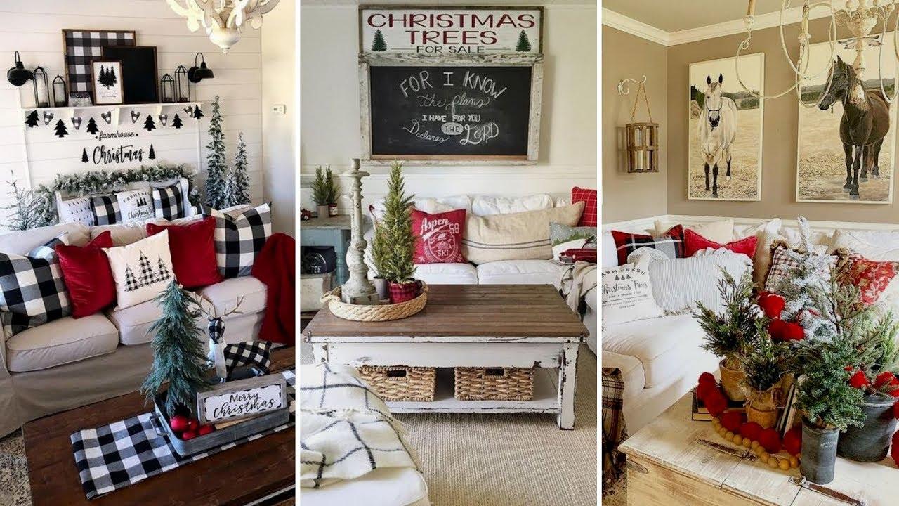 Diy Farmhouse Style Christmas Coffee Table Decor Ideas