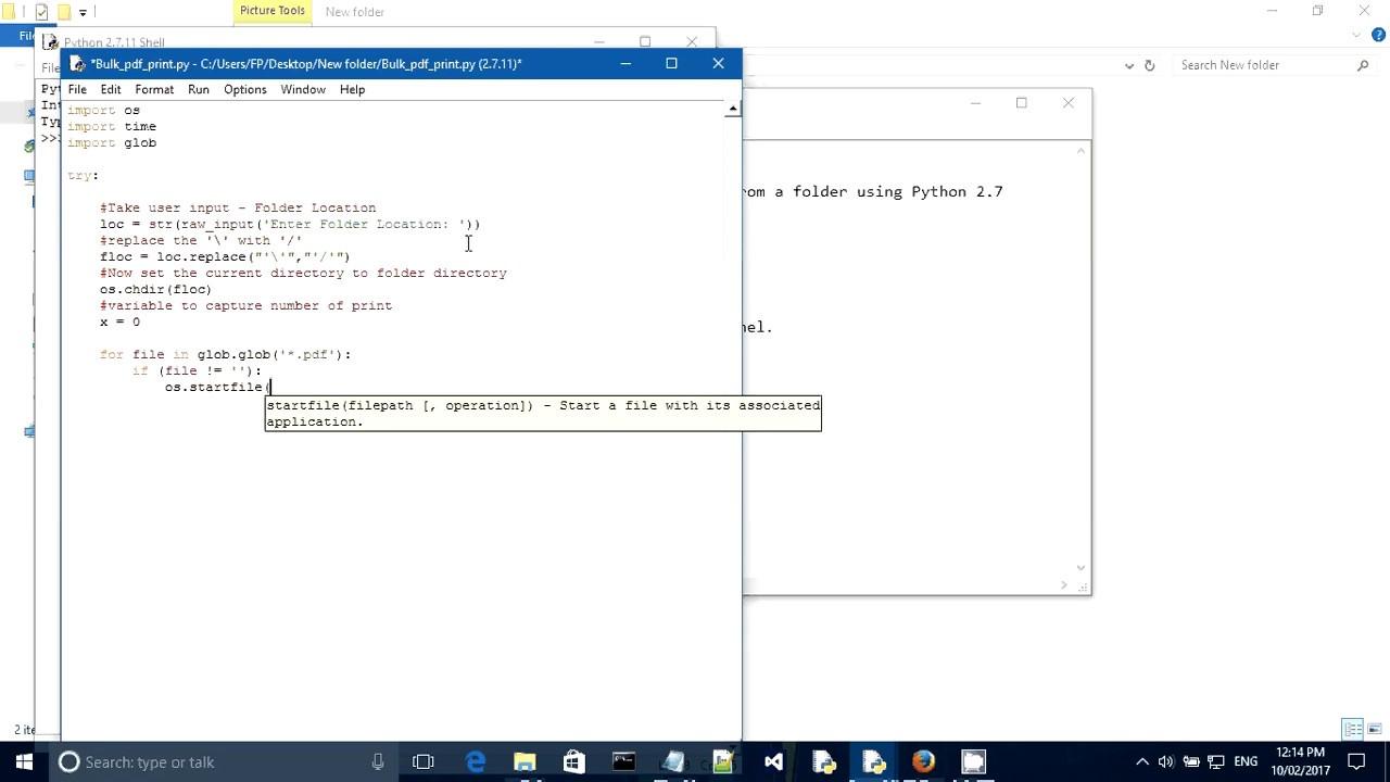 Python - Print bulk PDF file from folder