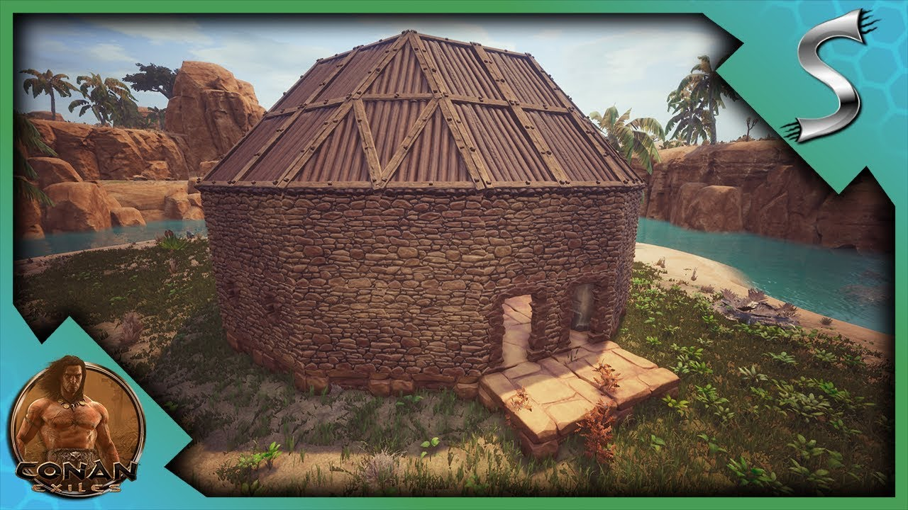 Building The New Base Our Round Building Workshop Conan Exiles Full Release Gameplay E7 Youtube
