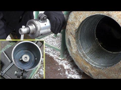 Расточка труб без токарного станка | обзор Устройства