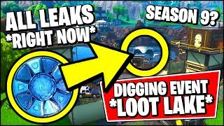Fortnite LOOT LAKE EVENT *RIGHT NOW* & LEAKED EVENT FINALE (Fortnite Season 8 Event - DIgging Event)