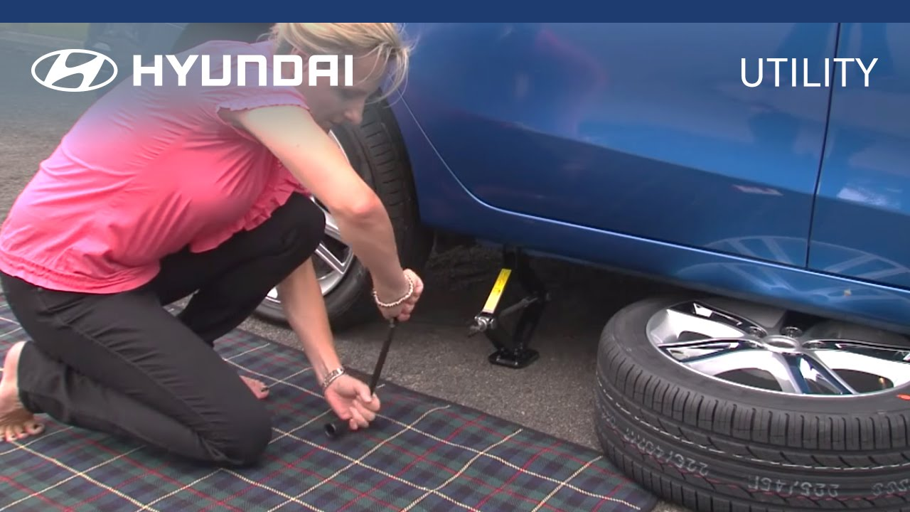 Hyundai Myhyundai How To Change Your Car Tyre Youtube