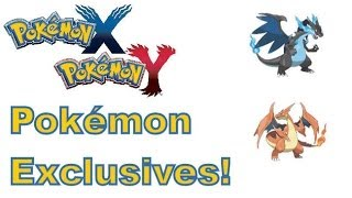 Pokemon X And Y - 3DS - Pokemon Exclusives Between The Two Games!