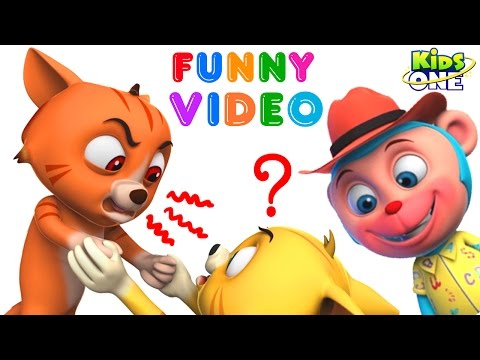 Thumbnail: Two CATS Fight over CAKE | Mr. Monkey Enjoy | Funny Prank Videos for Children